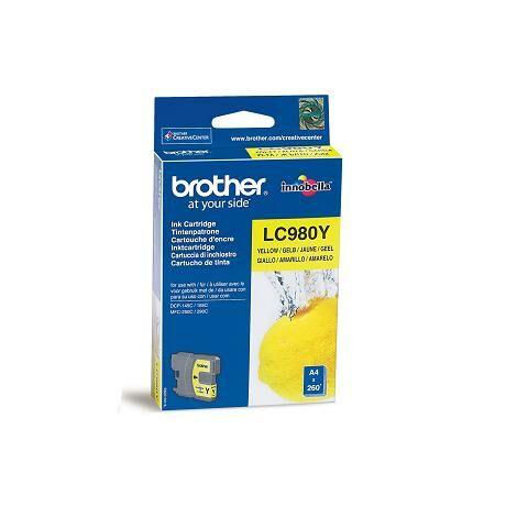 Brother LC980 cartuș de cerneală originală galbenă