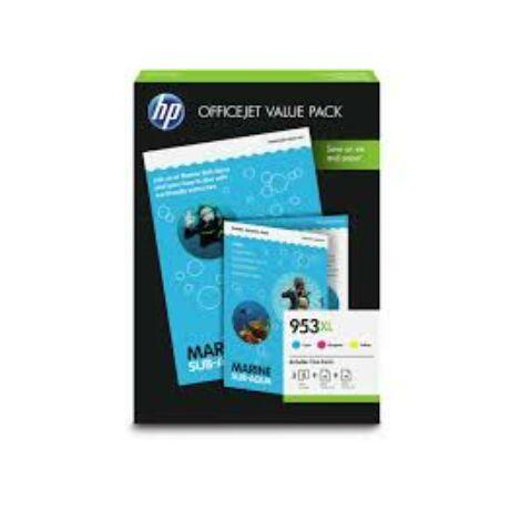 HP 1CC21AE No.953XL cartuș de cerneală + hârtiefotografică originală colorată multipack