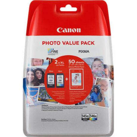Canon PG-545XL/CL-546XL cartuș de cerneală originală multipack + hârtiefotografică